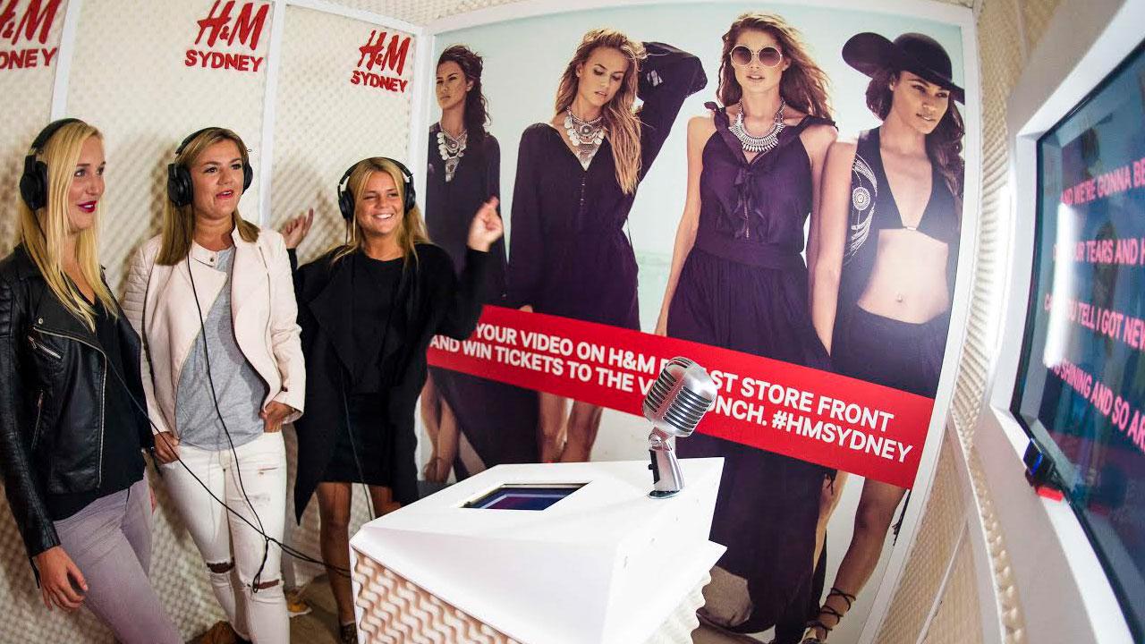 Recording Studio, H&M Sydney Flagship Store Opening